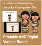 Thanksgiving History Social Studies Lesson and Activity BUNDLE