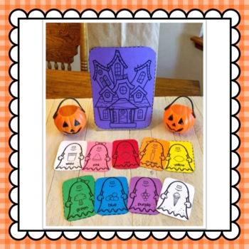 The Chocolate Chip Ghost and Magnetic Board retelling pieces: Halloween