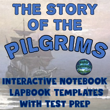 The Pilgrims Thanksgiving Interactive Notebook Activities