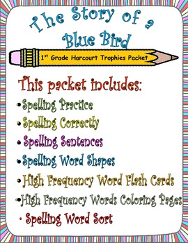 The Story of a Bluebird:  First Grade Spelling and Sight Words Packet