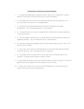 The Story of an Eyewitness Vocabulary Quiz Worksheet