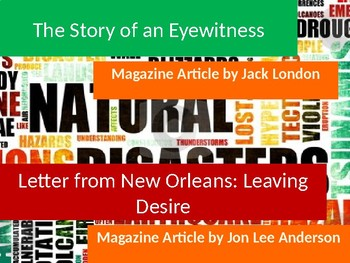 The Story of an Eyewitness by Jack London & Leaving Desire by J.L. Anderson