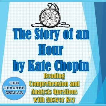 """""""The Story of an Hour"""" Questions with Answer Key & Vocabulary with Definitions"""
