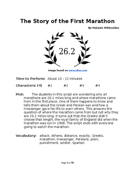 The Story of the First Marathon - Small Group Readers Theater