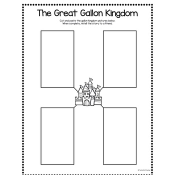 The Story of the Gallon Kingdom (Liquid Measurement Worksheet Included)