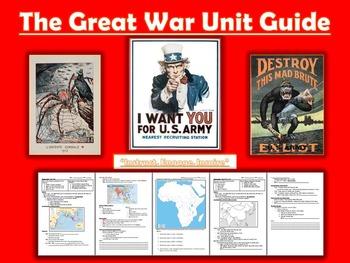 WORLD WAR 1 Lessons Bundle + Mega PPT (Imperialism included)