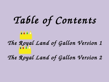 The Story of the Land of Gallon Told in Two Versions