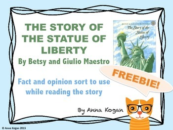 The Story of the Statue of Liberty: Graphic Organizer