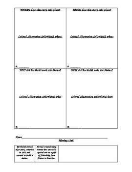 The Story of the Statue of Liberty Common Core Activity Menu/Plans