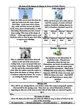 The Story of the Statue of Liberty Common Core Activity Me