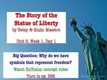 The Story of the Statue of Liberty PowerPoint Reading Street 3.6.1