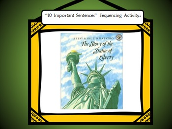 """The Story of the Statue of Liberty"" Sequencing Activity"