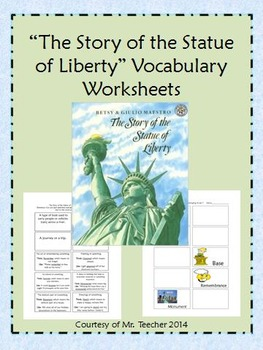 """""""The Story of the Statue of Liberty"""" Vocabulary Match-Up"""
