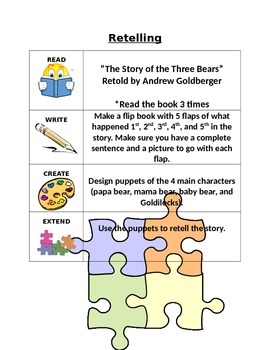 The Story of the Three Bears Think Tank