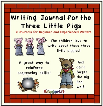 The Story of the Three Little Pigs - a writing journal