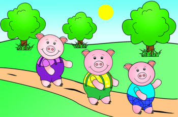 The Three Pigs--letter size; powerpoint, sequence cards, minibook, & coloring