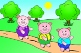 The Three Pigs--letter size; powerpoint, sequence cards, m