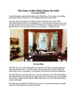 The Story of the White House for Kids
