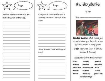 The Storyteller Trifold - Open Court 5th Grade Unit 6 Lesson 2