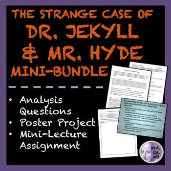 The Strange Case of Dr. Jekyll and Mr. Hyde: 3 Activities