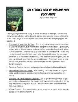 The Strange Case of Origami Yoda Book Study