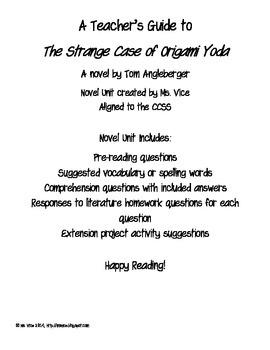 The Strange Case of Origami Yoda Teacher's Guide