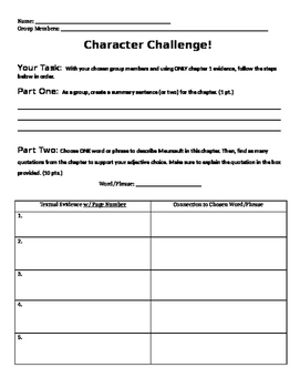 The Stranger Character Challenge: Chapter 1