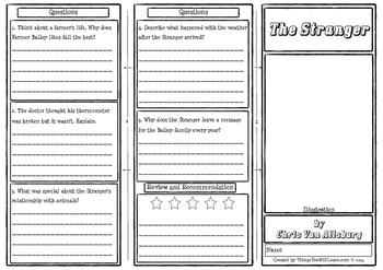 The Stranger Comprehension Foldable
