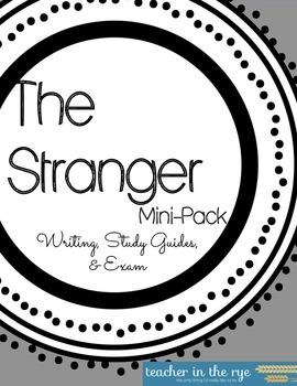 The Stranger End-of-Unit Mini-Pack for Writing & Exam
