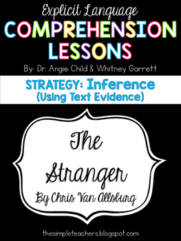 The Stranger - Inference using text evidence Comprehension Lesson