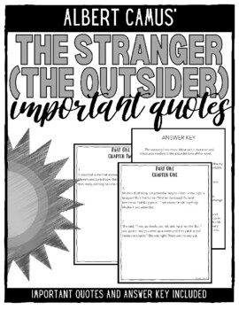 The Stranger (The Outsider) Important Quotes