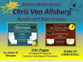 The Stranger & The Widow's Broom Chris Van Allsburg Bundle