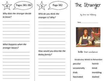 The Stranger Trifold - Storytown 4th Grade Unit 3 Week 4