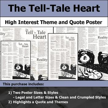 The Tell-Tale Heart - Visual Theme and Quote Poster for Bulletin Boards