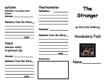 The Stranger Vocabulary Foldable