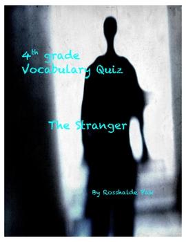 The Stranger Vocabulary Quiz