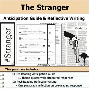 The Stranger by Albert Camus - Anticipation Guide & Reflection