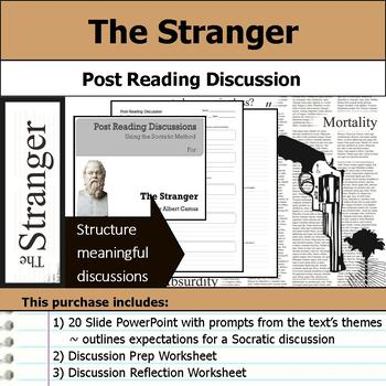 The Stranger by Albert Camus - Socratic Method - Post Reading Discussions