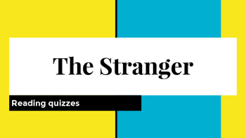 The Stranger by Camus for AP Lit Reading Quizzes