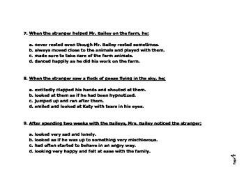 The Stranger by Chris Van Allburg - Reading Comprehension Quiz and Vocab Sheet