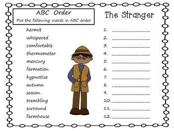 The Stranger     39 pgs Common Core Activities