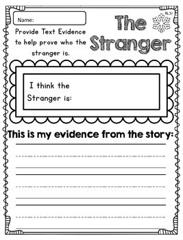 The Stranger Reader Response CCSS Aligned - Fall Fun, Engaging Easy Lessons