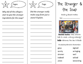 The Stranger & the Soup Trifold - Open Court 2nd Grade Unit 3 Lesson 5