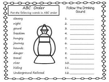 Follow the Drinking Gourd ~ 40 pgs of Common Core Activities