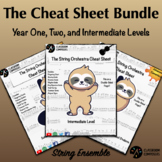 The Strings Cheat Sheet Bundle! - Year One, Year Two, and