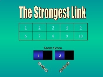 The Strongest Link PowerPoint Game Template