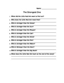 The Strongest One Comprehension Sheet