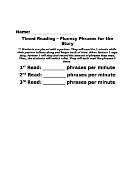Reading Street The Strongest One Fluency Phrases