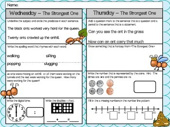 The Strongest One Homework - Scott Foresman 2nd Grade