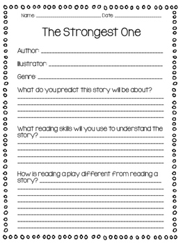 The Strongest One Supplemental Activities (Second Grade Reading Street Lesson 5)